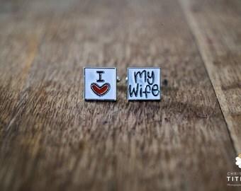 Cufflinks (cufflinks) I love my wife (i love my wife)