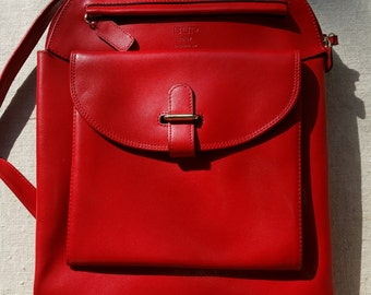 Leather BUP 14-17 Disseny Barcelona TTBE red leather backpack