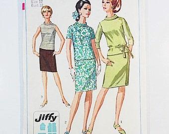 60s Mod Dress Pattern | Simplicity 7164 Jiffy Dress Pattern | 60s Sewing Pattern
