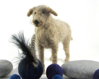 Needle felted pet dog sculpture in wool  - handmade for dog lovers