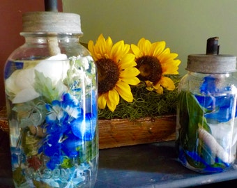Half Gallon & Quart Mason Jar Oil Lamps