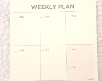 Weekly Plan Memo | Planner reminder | Tiny notes |