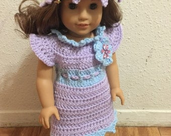American girl doll crocheted dress and hat lot