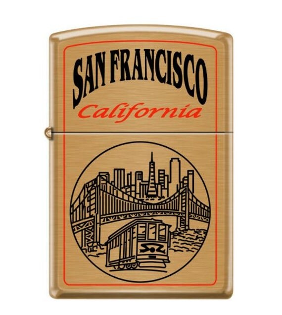 Custom made zippo lighter san francisco city bay area golden for Bay area custom shirts
