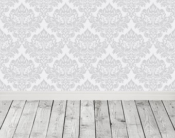 Damask wall with vintage wood Floordrop Photography Backdrop Newborns kids photo vinyl photography Background for studios item D-9900