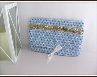 Pocket cotton hand Scandinavian pattern glitter gold
