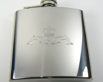 Submariners Stainless Steel Hip Flask