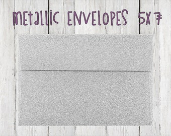 5x7 Metallic Envelopes - Minumim QTY of 50