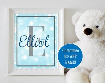 Monogram Baby Boy Nursery Decor; Monogram Nursery Art; Personalized Nursery Decor; Baby Name Sign; Personalized Baby Gift for Boy
