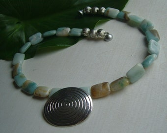 Necklace Amazonite - snail