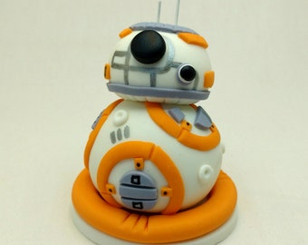 Star Wars BB8 Birthday Fondant Cake Topper with Docking Platform Base