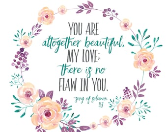 Song of Solomon 4:7 Prnt