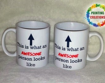 This is what an awesome person looks like funny novelty ceramic mug tea coffee - gift boxed