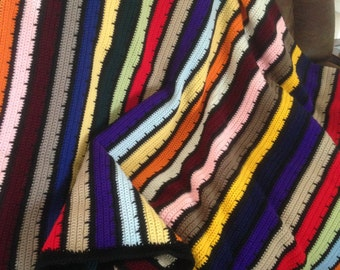 Handmade Rainbow Crocheted Blanket