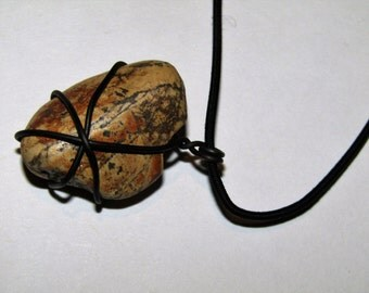 Wire Wrapped Rock Necklace