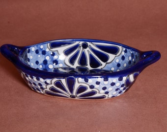 Small Blue and White Talavera Tapas dish