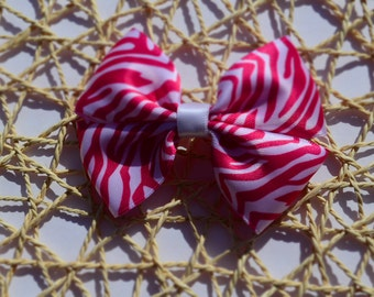 Hot Pink/ Light Pink Animal Print Boutique Bow