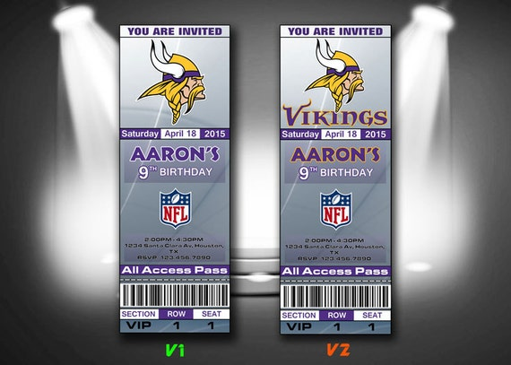 Minnesota Vikings Invitation