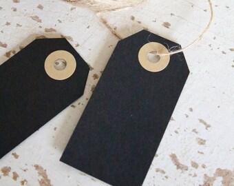 Parcel Tags Pk10 - Black