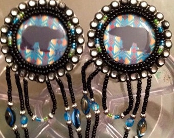 Native American - Bear earrings