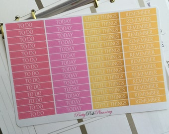 0054 Header to do today little things remember boxes reminders flag banner tracker icons planner stickers Erin Condren other planners journa