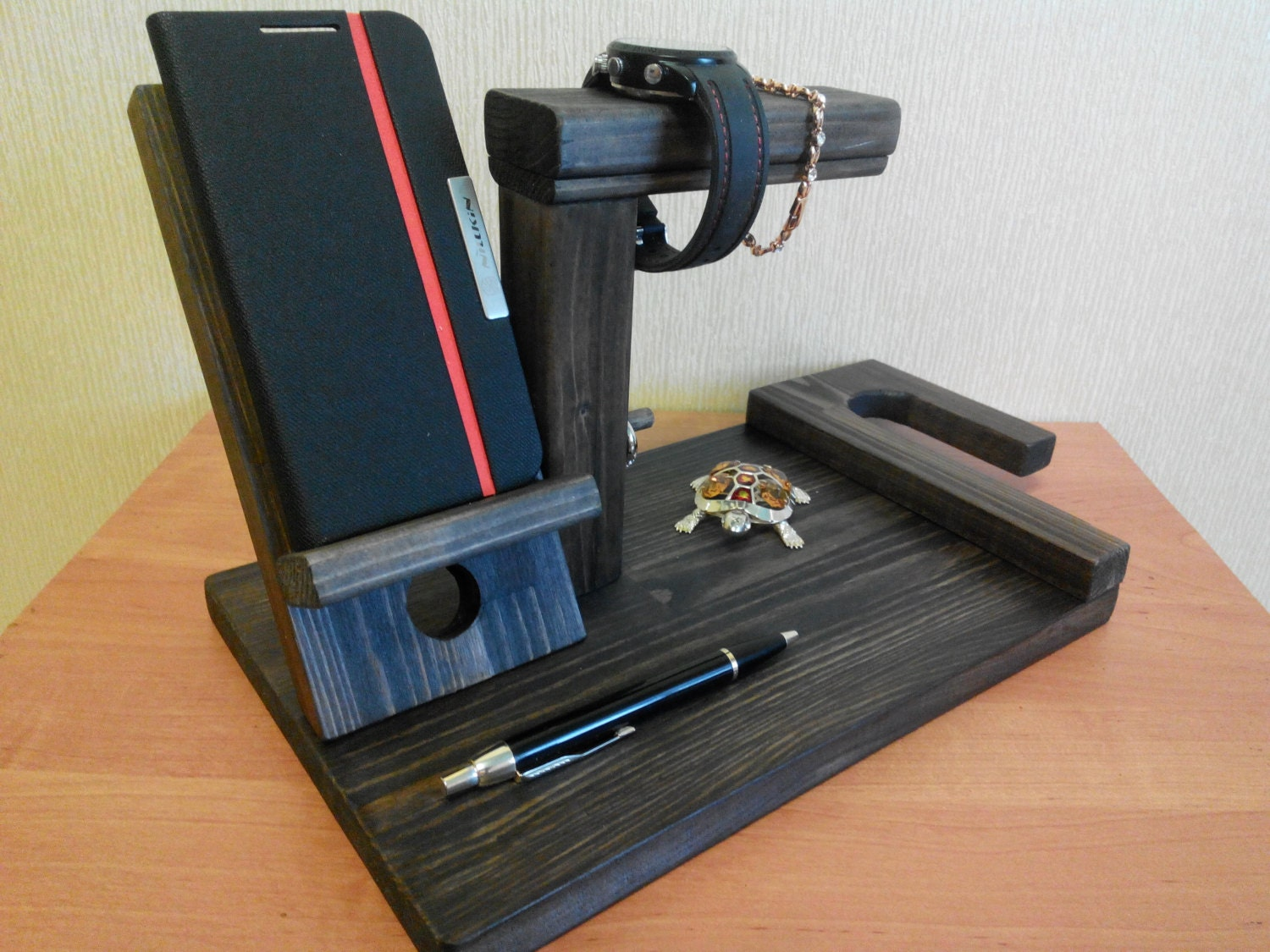Wooden Docking Station Iphone Stand Dock Station Charging