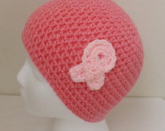 Breast Cancer Awareness pink beanie