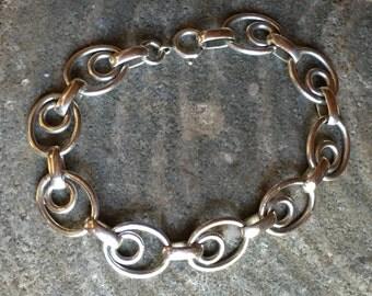 Sterling Art Deco Circles Ovals Bracelet