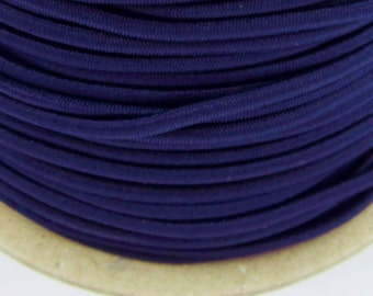 5, 10, 50 m rubber cord 2 mm dark blue