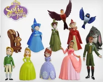 Mister A Gift Sofia The First set of 12 Plastic Cake toppers