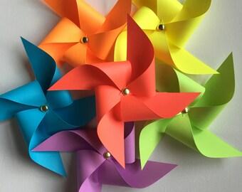 36 Assorted Paper Pinwheels