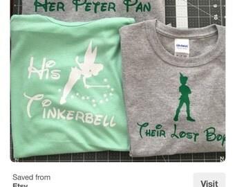 Tinkerbell Shirts| Disney Cruise Shirts|Couples Disney Shirts|Disney Couples Shirts| Disney Family Shirts| Disney Custom Shirts| Peter Pan|