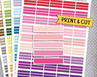 Blank MDN Headers Set, Printable Planner Stickers, Erin Condren Planner Stickers, Blank Labels, blank header, Printable Stickers
