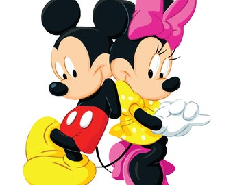 Mickey and Minnie  svg , Mickey and Minnie  eps , Mickey and Minnie  silhouette, Mickey and Minnie  files, cutting files, instant download