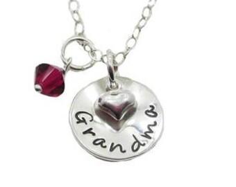 Grandma Charm Necklace {Sterling Silver}