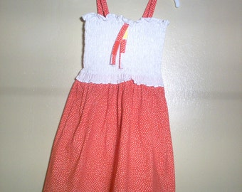 Red/White Dots Girls Sundress
