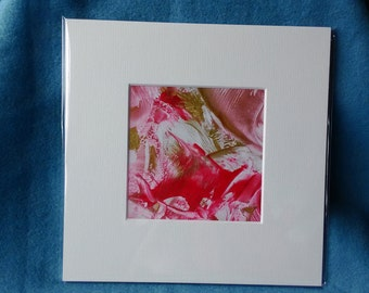 Red Encaustic Wax Picture