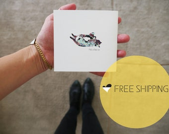 Fat Cat Greeting Card|Fat Cat Print,Fat cat Art,fat cat drawing,fat cat illustration,minimal Print,minimal art,Humorist card,for gift,
