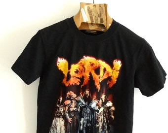 Band t-shirt LORD tshirt heavy metal rock shirt black tee music graphics size M vintage 90s