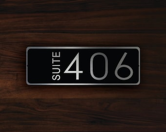 CUSTOM HOTEL SUITE Door Number Sign, Hotel Suite Door Number Sign, Customizable Room Number Signs, Hotel Room Number, Hotel Room Numbers