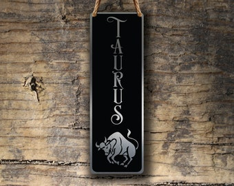 TAURUS ZODIAC SIGN Wall Art Sign, Taurus Wall Plaque, Taurus Hanging Plaque, Taurus Star Sign, Taurus Star Sign Art, Zodiac Taurus , Taurus