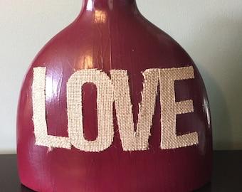 Large Refurbished LOVE Vase