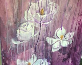 Magnolias Original Painting