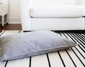Grey Textured Fully Washable, Hypoallergenic Dog Bed, 26x36 designed by Jo Alcorn
