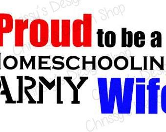 Army svg / Homeschooling SVG / Silhouette svg files / Army mom svg / Army eps / Homeschool eps / Digital download svg