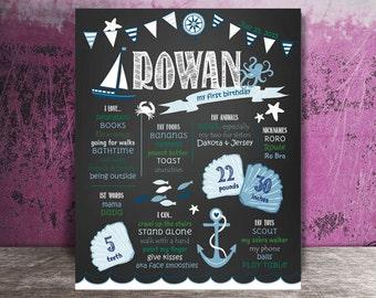 Nautical at Sea Birthday Board