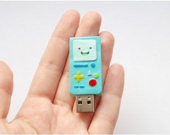 BMO usb flash drive, Adventure time usb, 16 GB usb flash, mint computer gadget, back to school