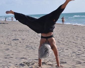 Black Harem Pants, Baggy Pants, One size fits all, Drop Crotch, Harem Pants, Hand Made Pants, Music Festival Clothes, Yoga Pants