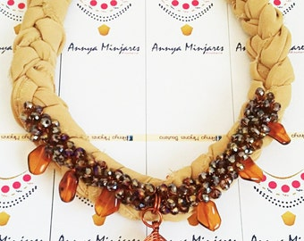 Agate necklace coffee design author