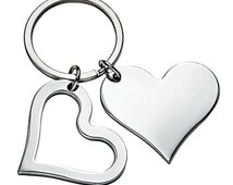 Heart Keyring engraved with picture/text